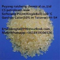 Hydrocarbon petroleum resin C5 for producing hot melt road marking paint